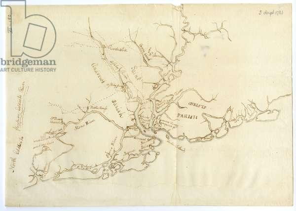 Map of Charleston, South Carolina, 3 August 1781 (litho)