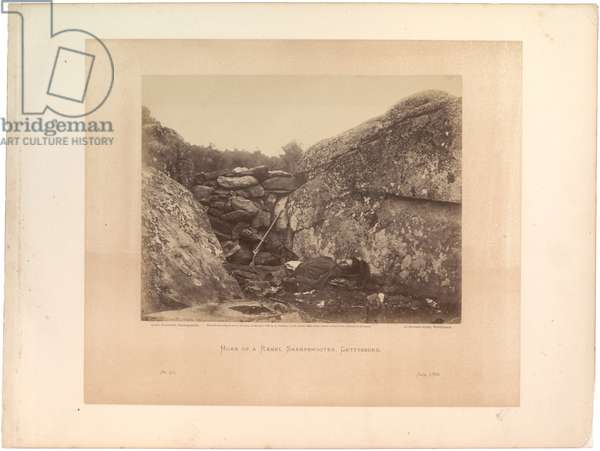 Home of a Rebel sharpshooter (No. 41) [photograph after Gettysburg], 1863 (sepia photo)