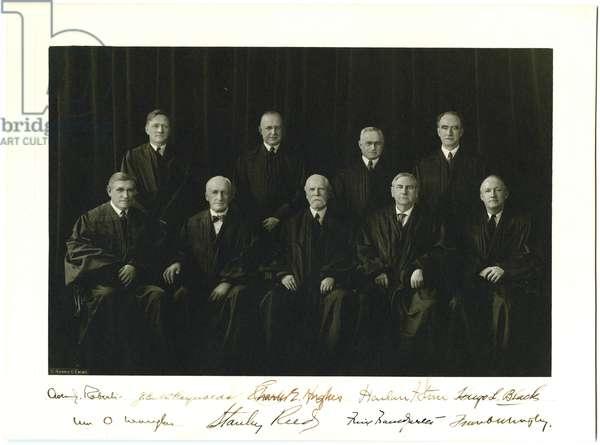 Portrait of Supreme Court Justices, c.1940 (b/w photo)