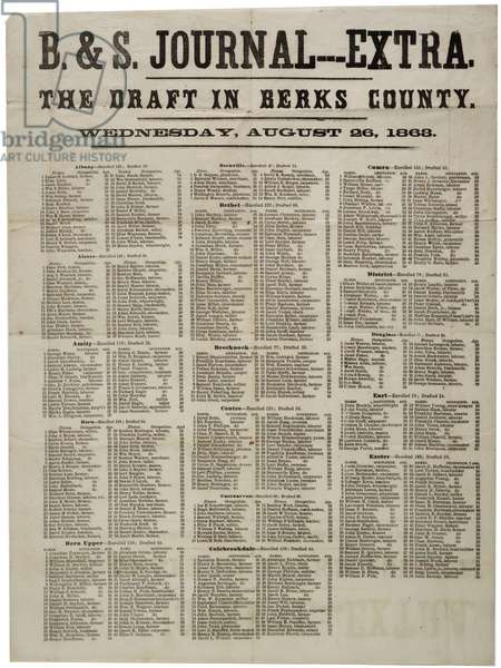 The Draft in Berks County, 26 August 1863 (litho)