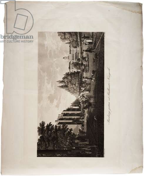 Broadway, New York, from an Atlas of the United States, 1824 (aquatint)