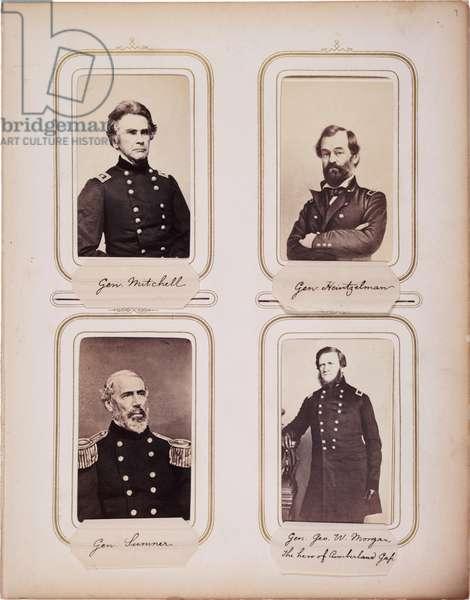 Album of 200 cartes de visite, most by Brady, c.1865 (sepia photo)