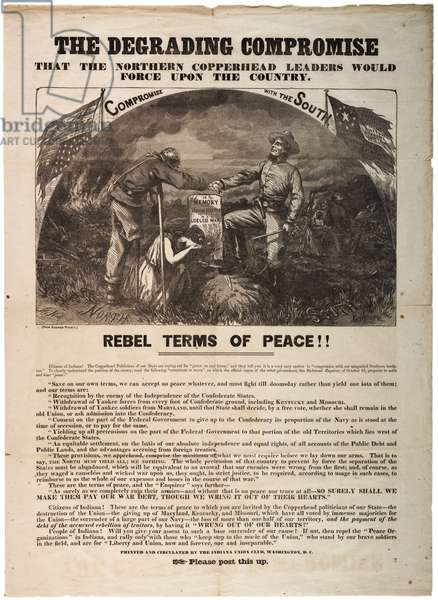 Election of 1864, 16th October 1864 (litho)