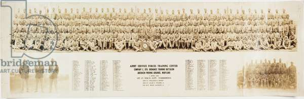 Collection of photographs of African American soldiers, 1940s (sepia photo)