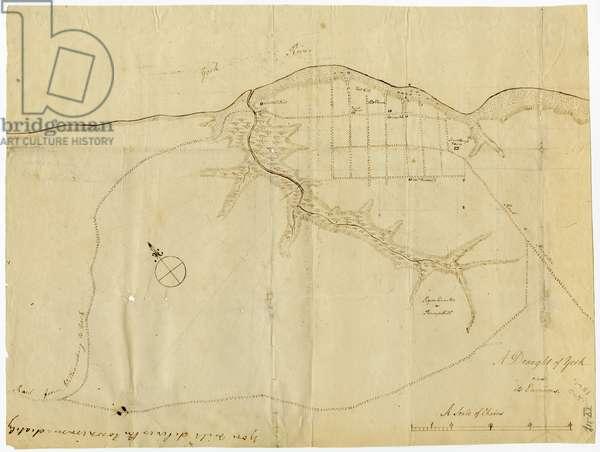 Map of Yorktown, Virginia, October 1781 (litho)
