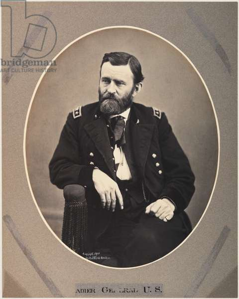 Platinum Rice Print of Ulysses S. Grant, 1865, printed 1901 (sepia photo)