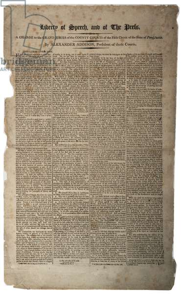 Liberty of Speech, and of the press, January 1799 (litho)