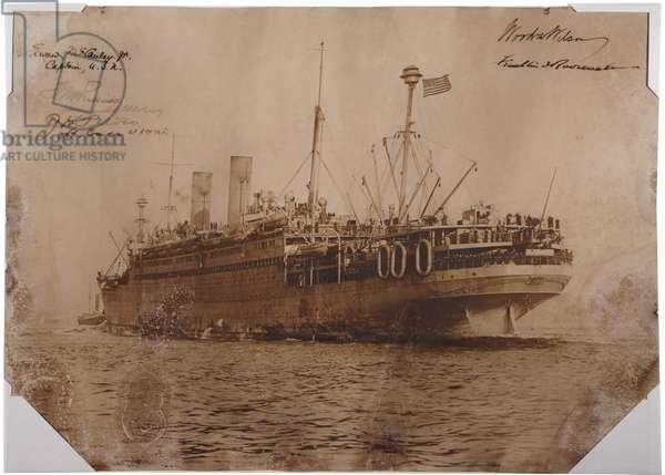 U.S.S. George Washington, c.1918 (sepia photo)