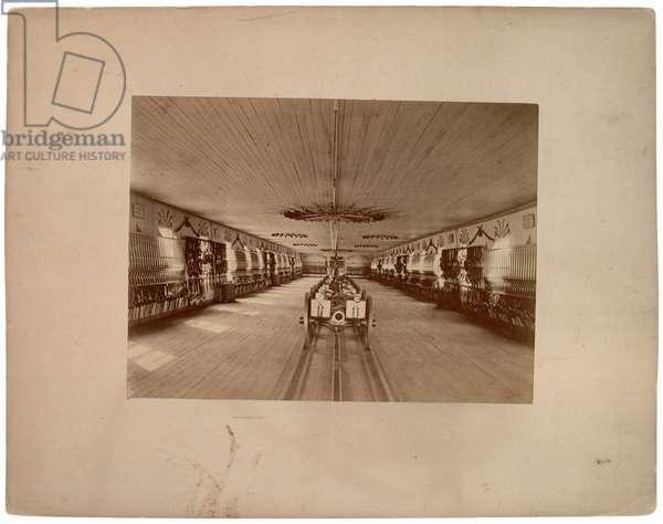 Inside of Armward, c.1870 (sepia photo)