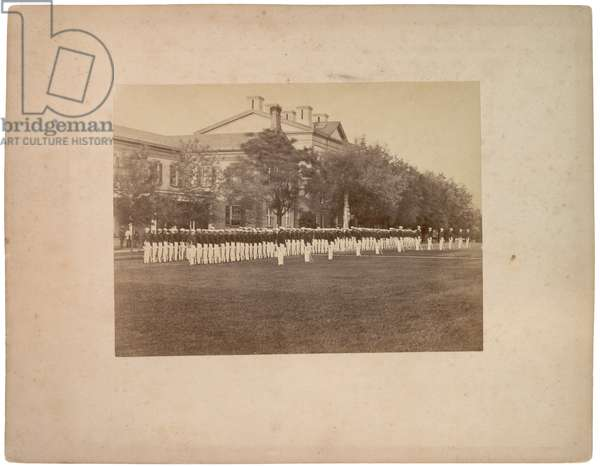 Dress Parade in Summer, c.1870 (sepia photo)