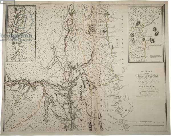 A Map of the Province of New York with part of Pensylvania, and New England, from an actual survey by Captain Montrésor, Engineer, 1775, 10 June 1775 (litho)