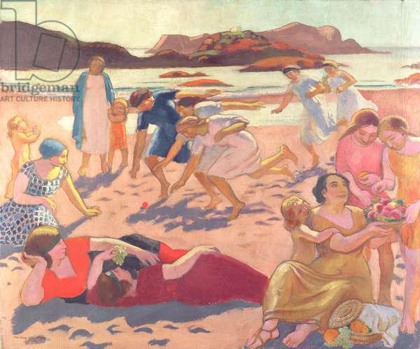 Ball Game on the Beach, 1922
