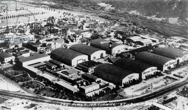 Warner Brothers' First National Studios, High Angle View, Burbank, Los Angeles, California, USA, c. 1930