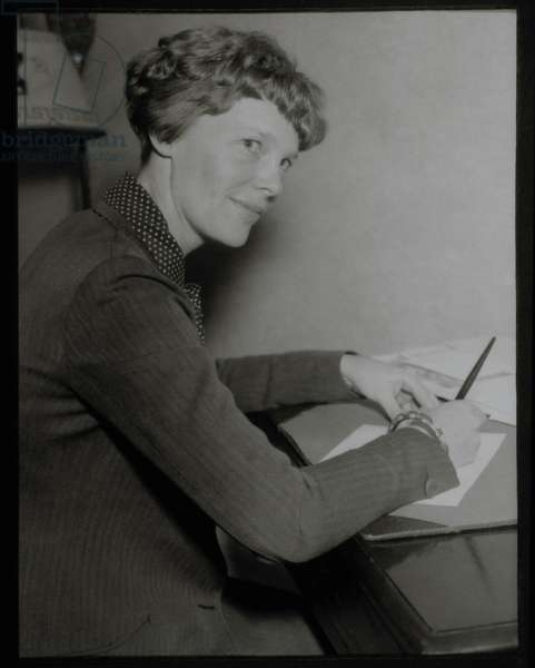 Amelia Earhart, Portrait, Circa 1930's