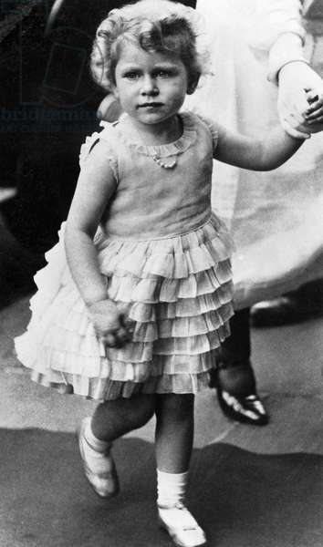 Queen Elizabeth II, of United Kingdom, as a child, circa 1929
