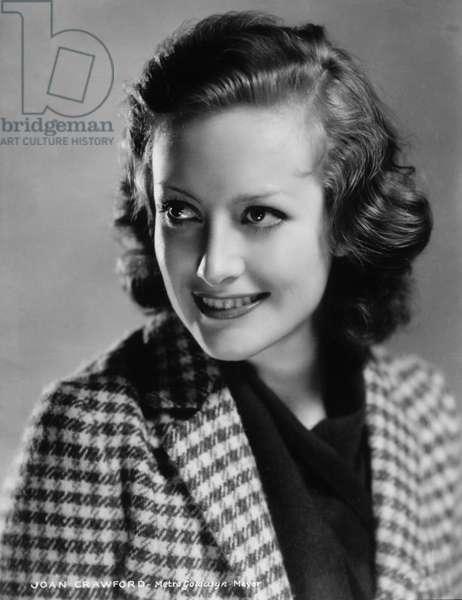 Actress Joan Crawford, Portrait, circa late 1930's (b/w photo)