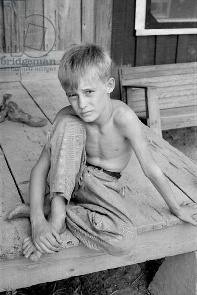 Son of Sharecropper, Mississippi County, Arkansas, USA, Arthur Rothstein for Farm Security Administration (FSA), August 1935
