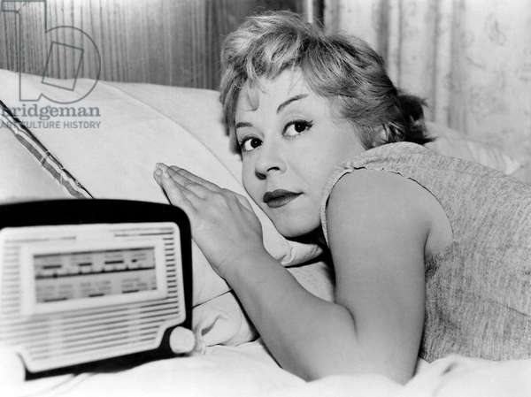 "Giuletta Masina, on-set of the film, ""Nights of Cabiria"" aka ""Le Notti de Cabiria"", 1957"