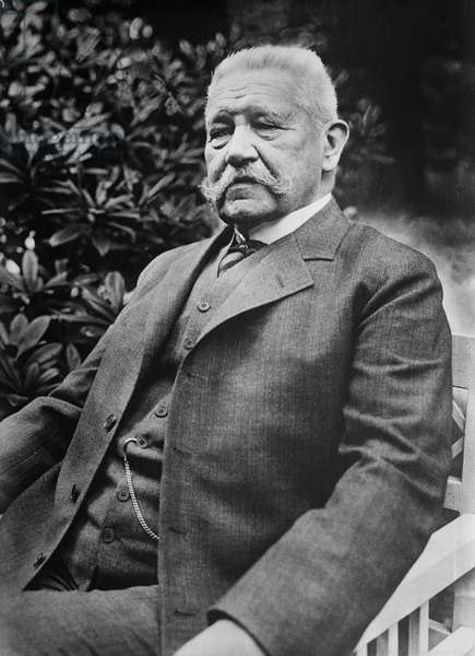 Paul von Hindenburg, President of Germany, Portrait, Bain News Service, May 1927 (b/w photo)