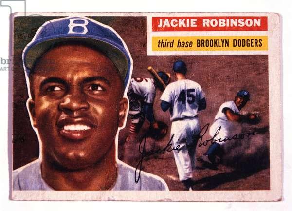 Jackie Robinson, Brooklyn Dodgers (1919-1972), Trade Card, 1946