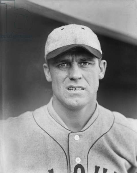 George Sisler, Major League Baseball Player, Saint Louis Browns, Close-Up Portrait, 1924 (b/w photo)