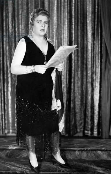 "Sophie Tucker, on-set of the Film, ""Honky Tonk"", 1929"