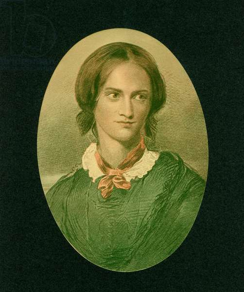 Charlotte Bronte (1816-55), English Novelist and Poet, Portrait, Engraving