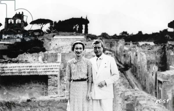 """King Edward VIII and Wallis Simpson, Portrait while on Mediterranean Holiday, 1936, from the Documentary Film, """"A King's Story"""", Columbia Pictures, 1965"""