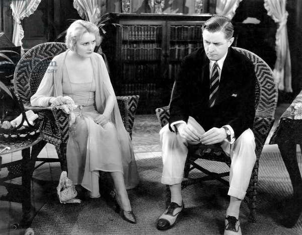 """Jeanne Eagels, Reginald Owen, on-set of the Film, """"The Letter"""", 1929"""