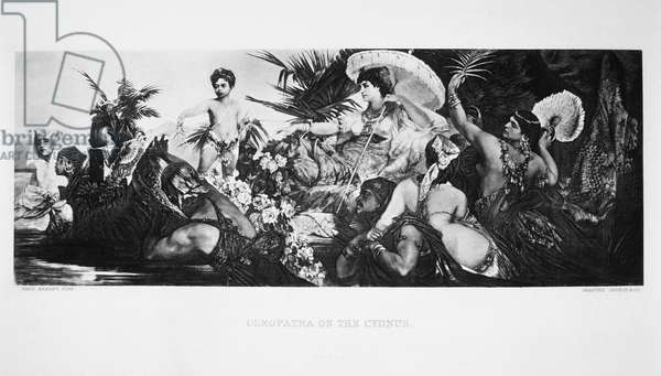 Cleopatra on the Cyndus, from a 19th Century Painting by Hans Makart