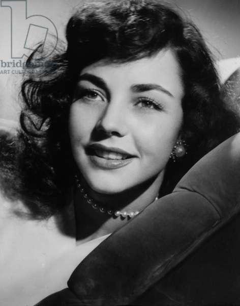 Actress Jennifer Jones, Portrait, 1946 (b/w photo)