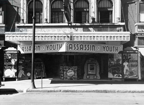 Assassin of Youth, Movie Theater, El Paso, Texas, USA, 1937