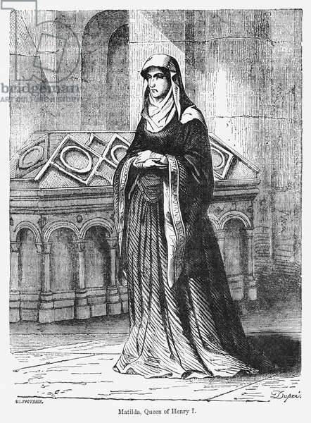 Matilda, Queen of Henry I, Illustration from John Cassell's Illustrated History of England, Vol. I from the earliest period to the reign of Edward the Fourth, Cassell, Petter and Galpin, 1857 (litho)