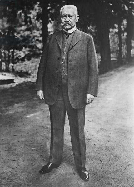 Paul von Hindenburg, President of Germany, Portrait Standing, Bain News Service, May 1927 (b/w photo)