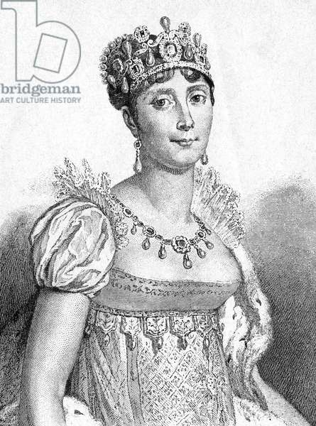 Empress Josephine de Beauharnais, Consort to Napoleon I, of France, at her Coronation, 1804