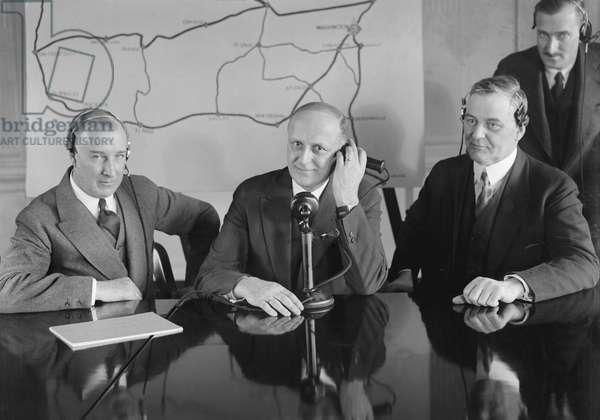Opening of New Transcontinental Telephone Line, Washington DC, USA, 1927 (b/w photo)