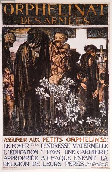 Orphelinat des Armees, c.1917 (colour litho)