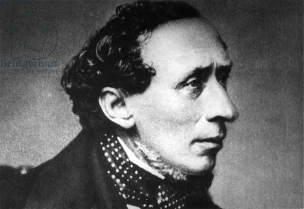 Hans Christian Andersen (1805-75), Danish Writer, Portrait, c.1860