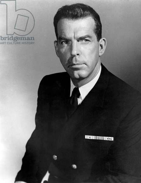 """Fred MacMurray, Promotional Portrait, on-set of the Film, """"The Caine Mutiny"""", 1954"""