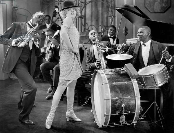"""Mae Murray and Jazz Band, on-set of the Silent Film, """"Circe, The Enchantress"""", 1924"""