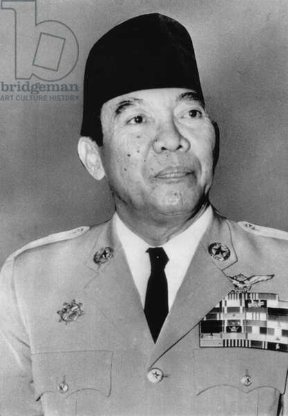 Sukarno (1901-1970), First President of Indonesia, Portrait, 1965