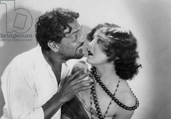 "Francis McDonald, Nancy Carroll, on-set of the Film, ""Dangerous Paradise"", 1930"