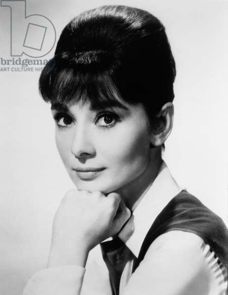 Actress Audrey Hepburn, Publicity Portrait, 1951 (b/w photo)