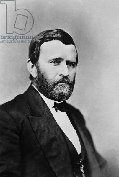 Ulysses S. Grant (1822-85), 18th President of the United States 1869-77, General of Union Army during American Civil War, Head and Shoulders Portrait, 1870's (b/w photo)