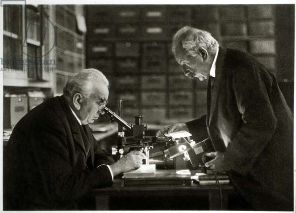 Louis Jean (1864-1948) and Auguste (1862-1954) Lumiere, Inventors of the Cinematographe