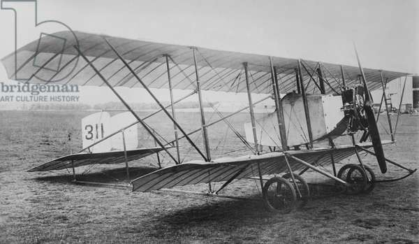 British Cauldron G-2 Biplane, Aldershot, England, UK, Bain News Service, 1915 (b/w photo)