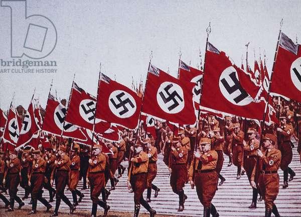 German SA Troops at Rally, Nurnberg, Germany, 1933 (photo)
