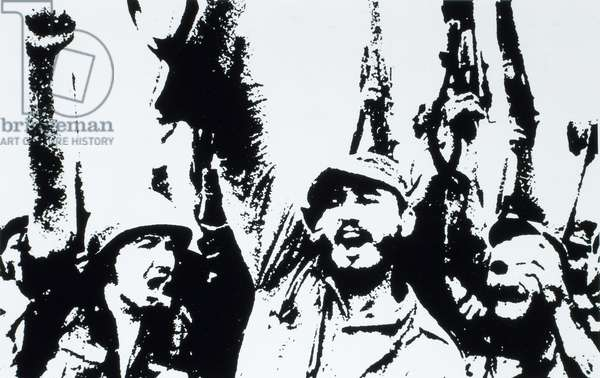 Fidel Castro with his Victorious Soldiers in Havana, Cuba, after the Regime of Fulgencio Batista was Overthrown on January 1, 1959