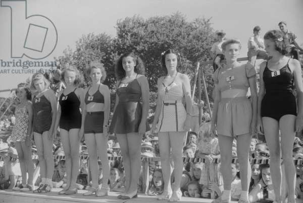 Beauty Contest During July 4th Celebration, Salisbury, Maryland, USA, July 1940