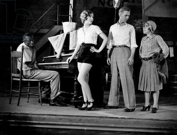 "Stepin Fetchit, Mae Clarke,  Lee Tray, Daphne Pollard, on-set of the Film, ""Big Time"", 1929"